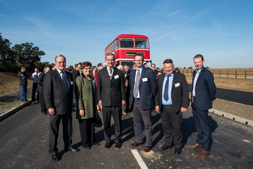 People opening Beccles Southern Relief Road