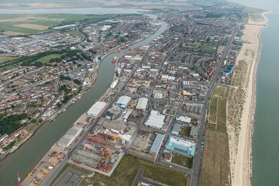 Great Yarmouth aerial shot