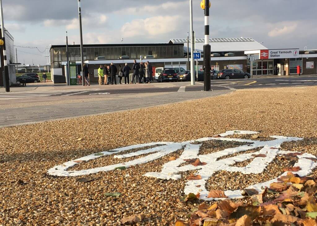 Great Yarmouth station forecourt
