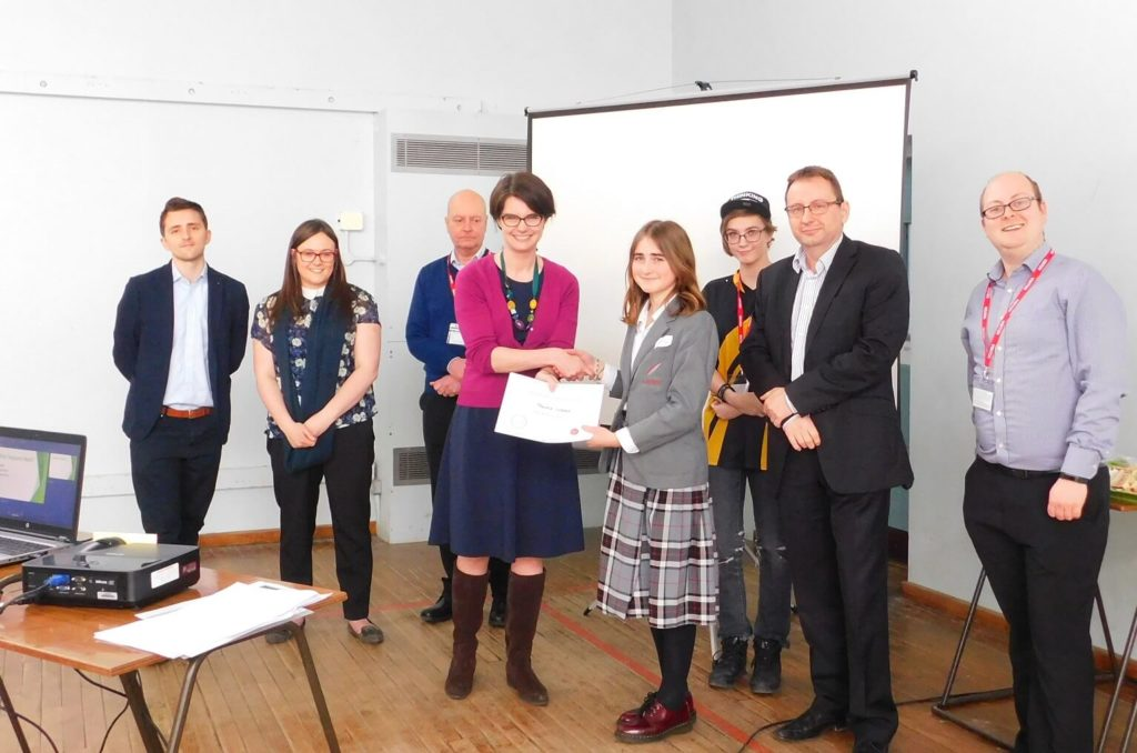 Chloe Smith meets students at the Norwich Opportunity Area board
