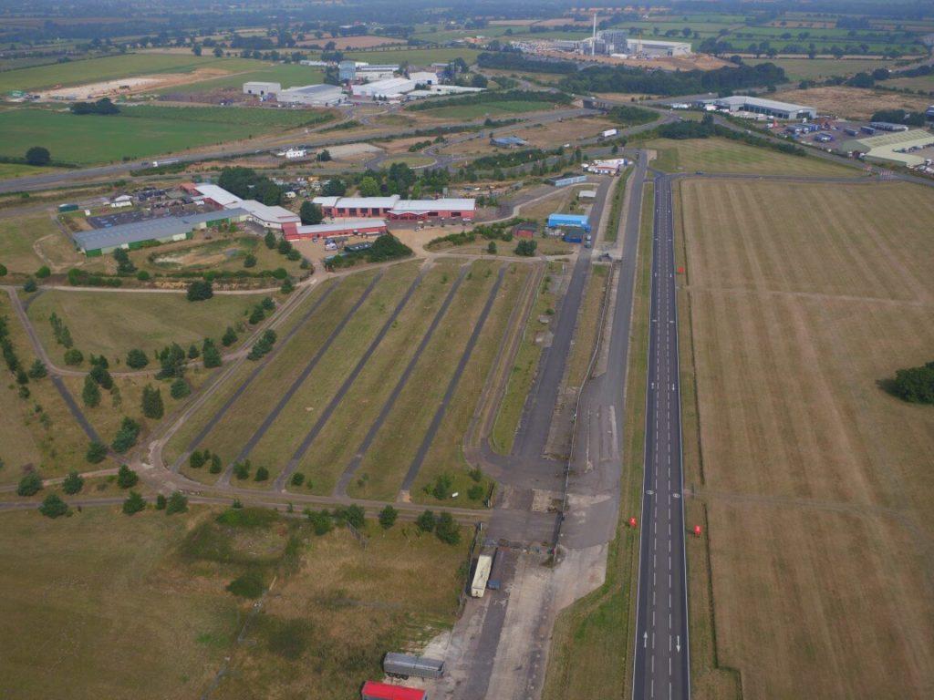 Aerial view of Snetterton