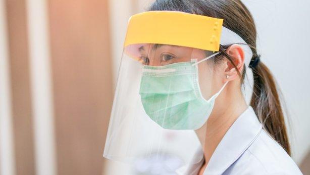 Lady wearing PPE