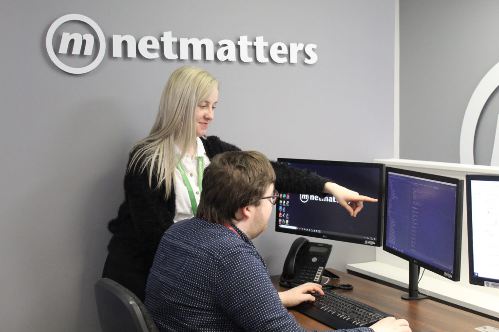 Netmatters - Girl showing man