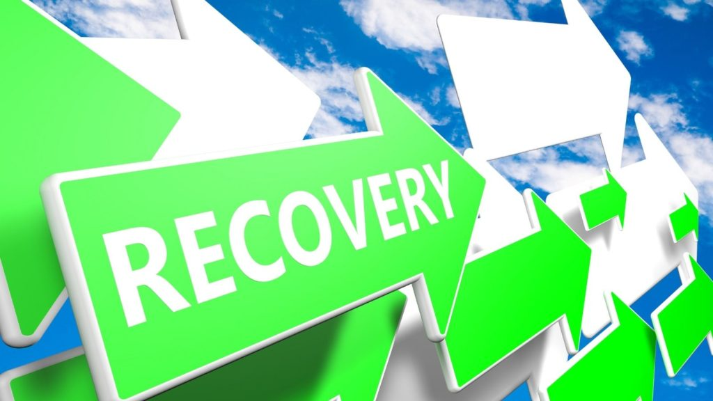 Recovery graphic with arrows pointing upwards