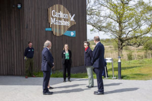 Princess Anne opening the visitor centre at Carlton Marshes in Suffolk