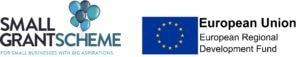 small grant scheme and ERDF logo